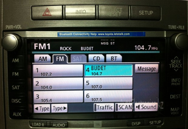 Адаптация Радио Toyota Venza