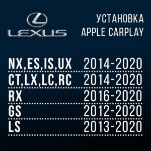 Установка CarPlay для Lexus